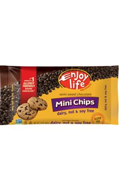 @enjoylifefoods Semi-Sweet Chocolate Mini Chips. For Recipe for Fitness and @inkgoddess these are a pantry staple! Dairy, gluten, nut and soy free - but you'd never know! As a certifiable chocoholic, I swear these are amazing!