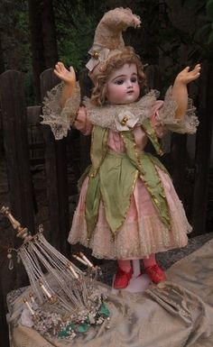Stunning French Bisque Bebe by Gaultier in Original Costume from ~ WHEN DREAMS COME TRUE ~ found @Doll Shops United http://www.dollshopsunited.com/stores/whendreamscometrue/items/1301714/Stunning-French-Bisque-Bebe-by-Gaultier-in-Original #dollshopsunited