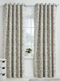 Leaf Trail Eyelet Header Curtains from BHS from £63.00