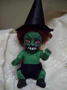 Zombie Baby Doll Witch Halloween Haunted House Horror Prop | eBay