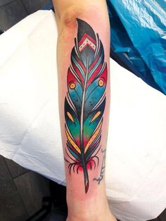 Cool feather tattoo