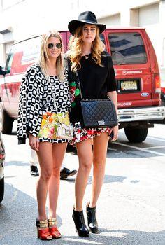 El glamour de Milan Fashion Week SS2014 Helena Bordon y Chiara Ferragni imponiendo tendencia en el street style de Milán