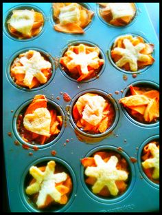 Apple Caramel Personal Pies using muffin tins