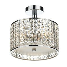 Rhodes 3 Light Semi Flush Polished Chrome/ Clear IP44 - catalogue