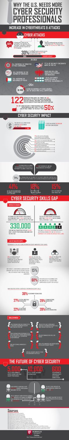 Why the US Needs More Cyber Security Professionals #infographic #CyberSecurity #Internet #Hacking