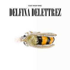 Delfina Delettrez bee ring. #delfinadelettrez #bee #ring #jewelry #jewellery #gold #dolcitrame #dolcitrameshop #shoponline