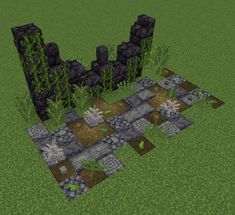 I made an apocalyptic ruin design : Minecraft Minecraft Kunst, Cute Minecraft Houses, Minecraft Wall, Minecraft Plans, Amazing Minecraft, Minecraft House Designs, Minecraft Survival, Minecraft Tutorial, Minecraft Blueprints