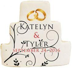 Printed Cookies - Wedding Cake