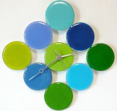 Fused Glass Bubble Clock