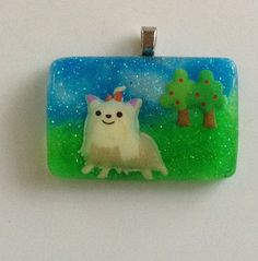 Shih Tzu Dog Pendant Resin Sprinkle Necklace Dog by KawaiiWhimsy, $12.00