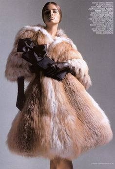 Fur dresses - now that's luxury! Fur is such a wonderful clothing material that it can become any article of clothing - fur hats, fur gloves, fur stockings, etc. So why not a fur dress? And, for that...