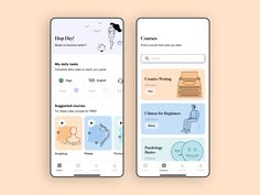 Online Courses Mobile App designed by CubexDesign. Connect with them on Dribbble; Dashboard Ui, Dashboard Design, Ui Ux Design, Interface Design, Ui Design Mobile, Mobile Application Design, Flat Design, User Interface, Design Layouts