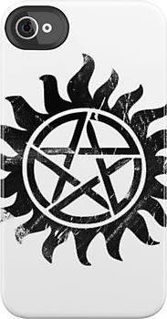 iPhone Case - Winchester logo dark (supernatural) by alexcool