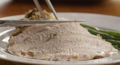 Slow Cooker Turkey Breast--You need two ingredients to make this: A 6 pound bone-in turkey breast and one packet of dry onion soup mix. Includes video on how to prepare. Slow Cooker Turkey, Crock Pot Slow Cooker, Pressure Cooker Recipes, Turkey Dishes, Turkey Recipes, Snack Recipes, Snacks, Best Crockpot Recipes, Crockpot Ideas