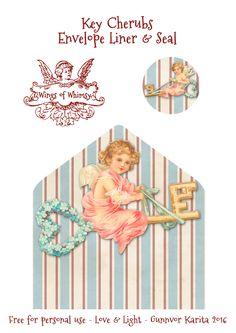 Wings of Whimsy: Key Cherubs Envelope Liner & Seal