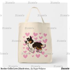 Our Border Collie tote bags are great for carrying around your school & office work or other shopping purchases. Collie Dog, Border Collie, Cute Borders, Holiday Photos, Custom Clothes, Dog Lovers, Reusable Tote Bags, Black, Tricot