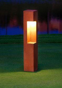 Arest OX -  BOLLARD LIGHT - garden bollard light - bespoke outdoor lighting - modern bollard lights - decking led
