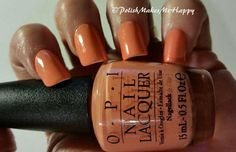 Hawaii Collection by OPI (2015). OoooLaLa!  They are gorgeous, all of them!!!! GREAT polishes. All with a GREAT formula.  Easy application.  I loved wearing each of them!!  This is Is Mai Tai Crooked?    #OPI #notd #prettynails #hawaii2015