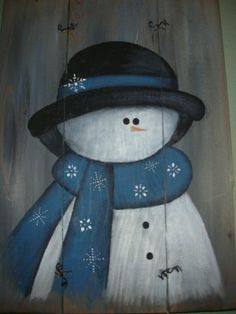 simple but elegant snowman