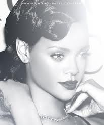 Picture of Rihanna one of my favorite artists I sang stay for my school talent Show with my friend :)