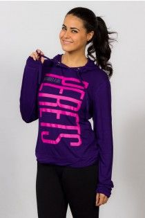 Pullover with hoodie, purple and pink, Joshua Perets
