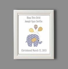 Personalised baby, christening gift, naming present. Baby boy ...