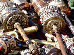 Prayer Wheel souvenirs for sale in Kathmandu, Nepal