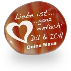 Glücksstein Karneol mit Gravur - Romantische Gechenkidee für die Freundin. #edelstein #glücksstein #glücksbringer