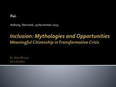 Keynote speech at D4L Conference, University of Aalborg, Denmark November 2015