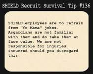SHIELD Recruit Survival Tip #136 --- In other words, don't insult Queen Frigga. Loki and Thor will hunt you down and make your life unbearable