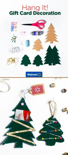 Holiday Ornaments Gift Card Holders | Walmart - Easily turn giftwrapping scraps into colorful and fun card holders. Everything you need for this and other creative holder ideas are at Walmart.