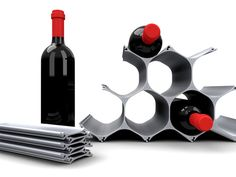 WineHive wine rack. I've always been a fan of aluminum from both a functionality and design aspects.