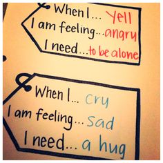 When I am feeling...Care Tags. How to help kids express feelings.