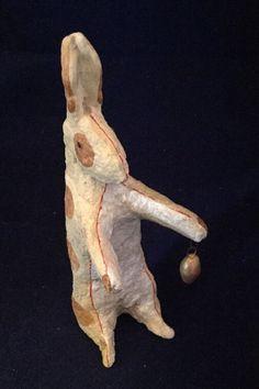 "Americana Folk Artist Debbee Thibault ""Wee Three Rabbits-Large""180/2500 6 1/2"""