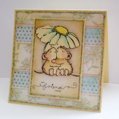 best friend...forever. Such a calming colours, lovely colouring on the Penny Black mice.