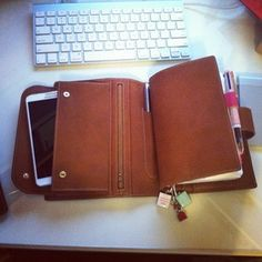 One of my MANY addictions.....Gillio Leather planners ;)