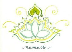 namaste - frame & put in yoga space