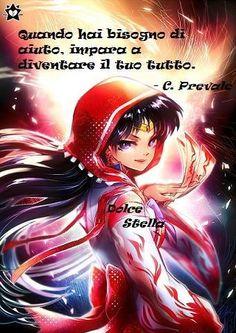 Citazione di C. Prevale e immagine fanart di Sailor Moon (Rei Hino)