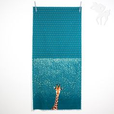 Giraffe::: Fabric Panel from bambiblauw.be