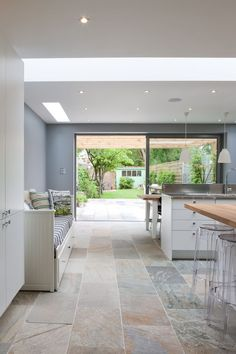 Modern Kitchen Design  : 50 Degrees North Architects ground floor rear extension in South West London. Op
