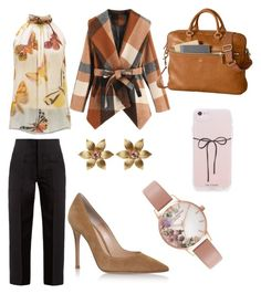 """""""work time"""" by explorer-15098277769 on Polyvore featuring Muveil, Alexander McQueen, Mark & Graham, Gianvito Rossi, Olivia Burton and La Perla"""