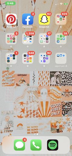 Organize Apps On Iphone, Whats On My Iphone, Wallpaper App, Wallpapers, Iphone App Layout, Phone Organization, Aesthetic Pastel Wallpaper, Homescreen, Wall Pictures