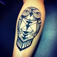 Geometric Owl Tattoo/ Coruja Geométrica Tatuagem by Luciano Marin on Free Ink Tattoo Shop. #tattoo #owl #geometrictattoo #freeinktattooshop #Ink