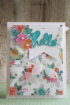 Gorgeous card by Nichol using the Simon Says Stamp February 2014 card kit a long with Simon Exclusive Dies.  January 2014