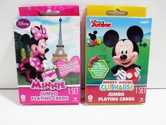 Disney Jumbo Playing Cards - 2 Sets - Mickey Mouse Clubhouse & Minnie Mouse #Cardinal ..... Visit all of our online locations..... www.stores.ebay.com/ourfamilygeneralstore ..... www.bonanza.com/booths/Family_General_Store ..... www.facebook.com/OurFamilyGeneralStore