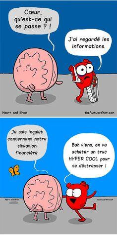 Cerveau VS. Coeur : la bande dessinée qui illustre parfaitement leurs différentes façons de penser !