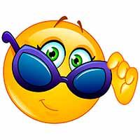 This cool smiley is looking it's best in a snazzy pair of sunglasses. Funny Emoji Faces, Funny Emoticons, Silly Faces, Smiley Emoticon, Emoticon Faces, Beste Emoji, Clipart Smiley, Emoji Design, Emoji Love