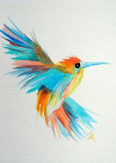 Still Motion- original watercolor painting by Shotviatheink