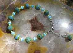 I Call this Polymer Clay Bracelet  by FiddledeedeeBling on Etsy, $12.00