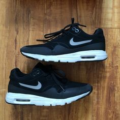 Nike Air Mac 1 Ultra Moire Black/black-metallic Silver-White. Used for working out. Runs a size and half small so if normally a size 6 this 6.5 shoe would fit. Comes with box. Nike Shoes Sneakers